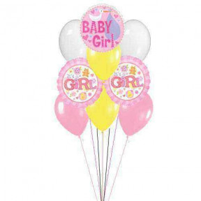 For Baby Girl    (  6 Latex Balloons )