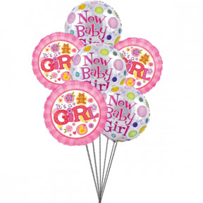 Lovely baloons for Lovely Baby(6 Mylar)