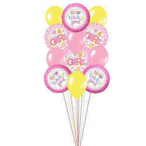 Lovely baloons for Lovely Baby    (  6 Latex Balloons )