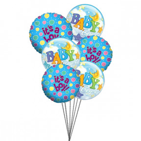 Balloons for Boys (6 Mylar & 6 Latex Balloons)