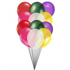 Colorful balloons (12 Latex balloons)