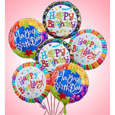 Air-Rangement - Birthday Mylar Balloons (Half Dozen)