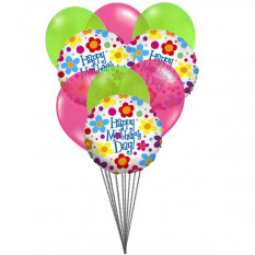 Happy Mother's Day - Balloons bouquet (6 Latex & 3-Mylar Balloons)