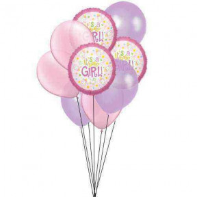 Purple-Pink collection (6 Latex & 3 Mylar Balloons)