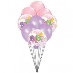 Baby on balloon