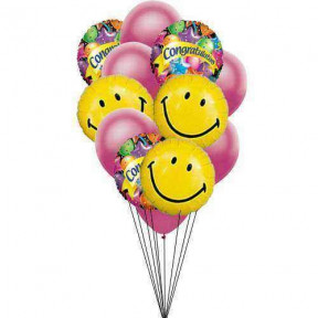 One mile of smile(3 Mylar and 3 Latex Balloons)