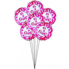 'It's a girl' Balloon bouquet