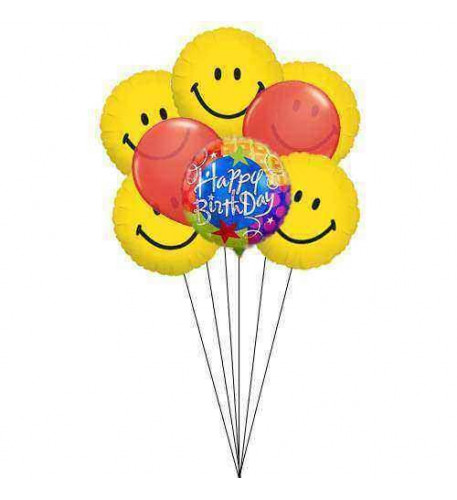 Sweet-wishes with smiles (6 Mylar & 2 Latex Balloons)