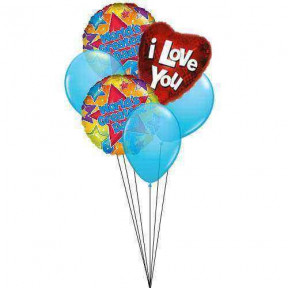 Love to Dad (6 Latex & 3-Mylar Balloons)