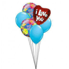 Special Love for Mom(3 Latex and  3 Mylar Balloons)