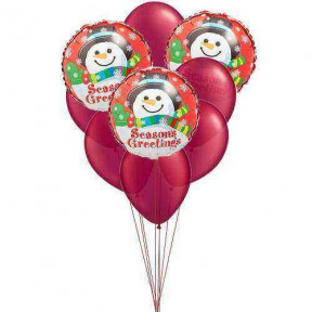 Smiley Wishes Balloons (6 Latex & 3 Mylar Balloons)