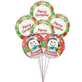 Winter Celebration Balloons (6 Mylar)