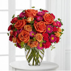 Rasberry And Orange Bouquet