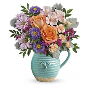 Busy Bee Pitcher Bouquet (Standrad)