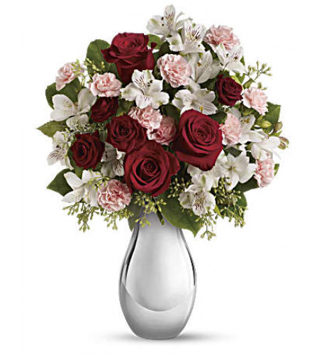 Giftblooms Crazy for You Bouquet with Red Roses (Medium)