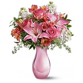 Pink Reflections Bouquet with Roses (Standard)