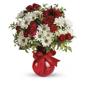 Red, White And You Bouquet (Standard)