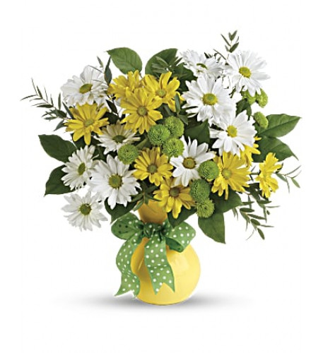 Daisies And Dots Bouquet (Deluxe)
