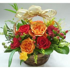 Basket Of 20 Mix Roses