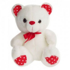 24 Inches Teddy white and red