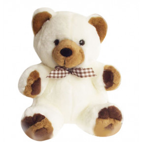 24 Inches Teddy off white with brown