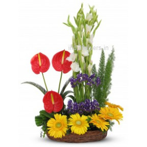 Mixed Exotic Flowers Arrangement