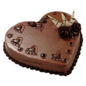 1 kg EGGLESS Heartshape Chocolate Cake