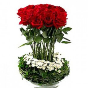 Roses Basket with Fillers Beauty