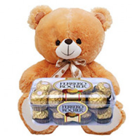 Ferrero Rocher Chocolates N Teddy