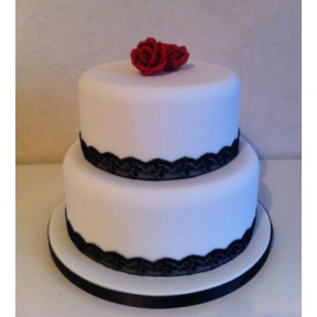 2 Tier premium chocolate Cake