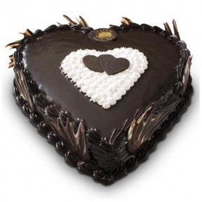 Heart Shaped Chocolate Truffle Cake 3 Kg
