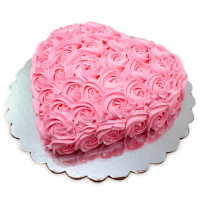 Heart shaped flower Cake 1 Kg