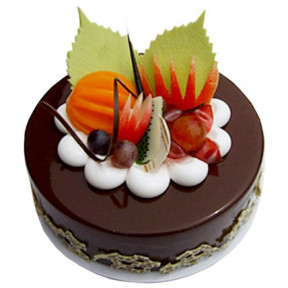 Half kg Fruits Chocolate Cake