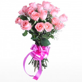 Bunch of 18 Pink Roses