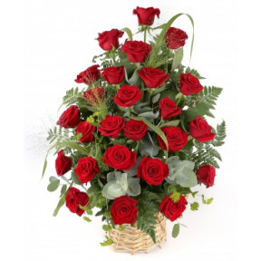 Bunch of 16 Red Roses