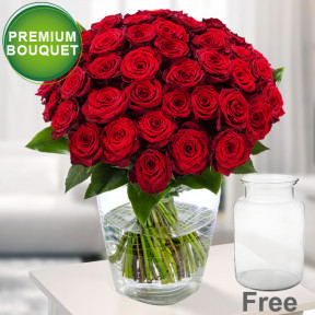 Premium Bouquet Paris with premium vase