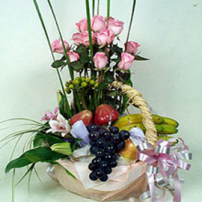 Flower fruit basket