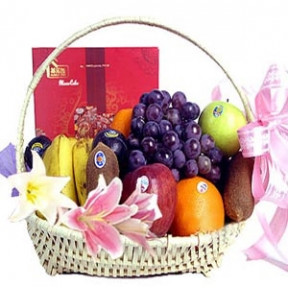 Flower fruit basket A