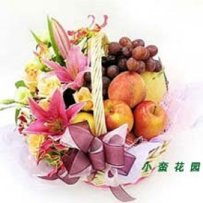 Flower fruit basket F