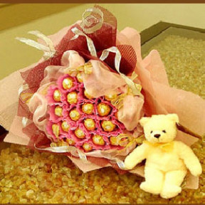 Chocolate Bouquet and Bear
