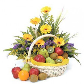 Flowers fruit basket H