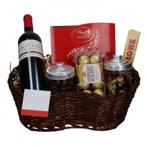 Malbec basket and Chocolates