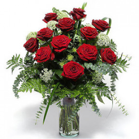 Arrangement of 18 Red Roses