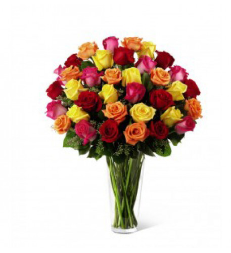 Bouquet of Roses Multicolored