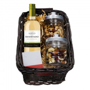 375ml White Wine basket and Nuts