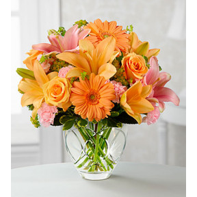 The Brighten Your Day Bouquet- CUT GLASS VASE INCLUDED