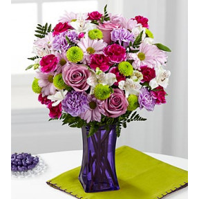 Purple Pop Bouquet - VASE INCLUDED
