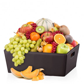 Leather Hamper Classic Fruit
