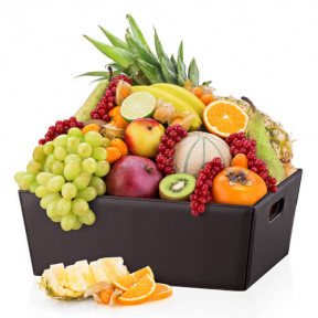 Leather Hamper Exotic Fruit