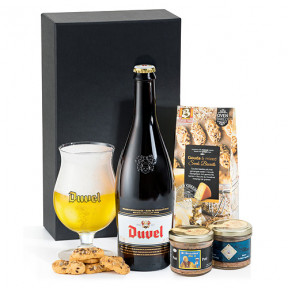 Duvel Belgian Beer, Pate & Biscuits